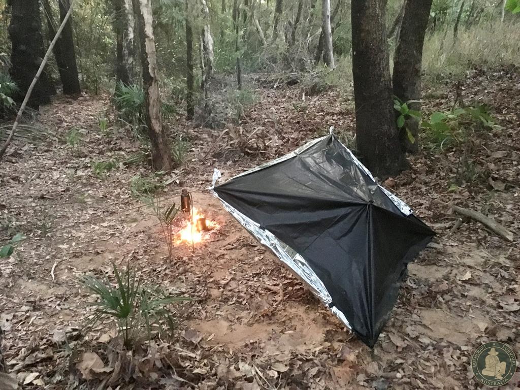 Bushcraft Survival Australia - Garbage-bag-shelter