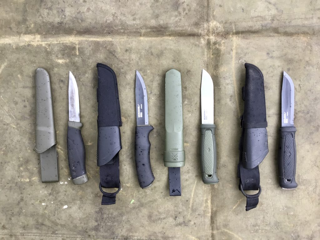Morakniv Companion HD, Bushcraft Black (tactical), Kansbol and Garberg