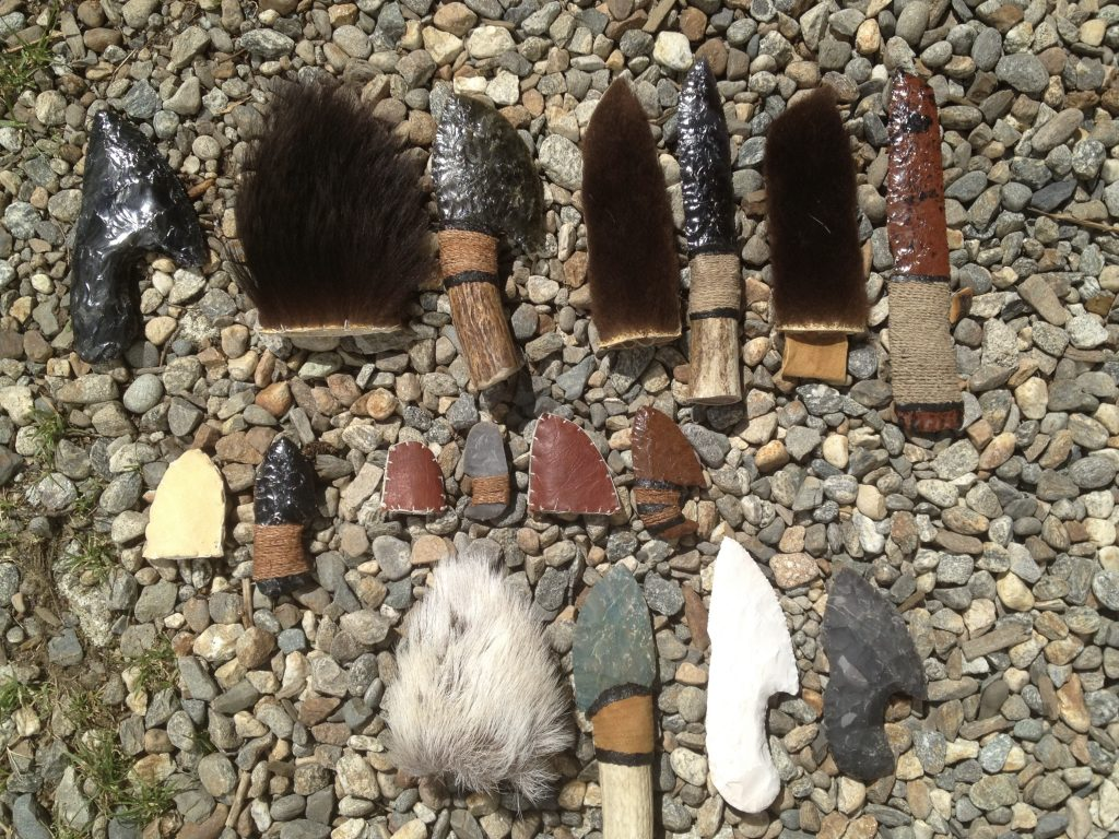 Flint knapped blades and tools